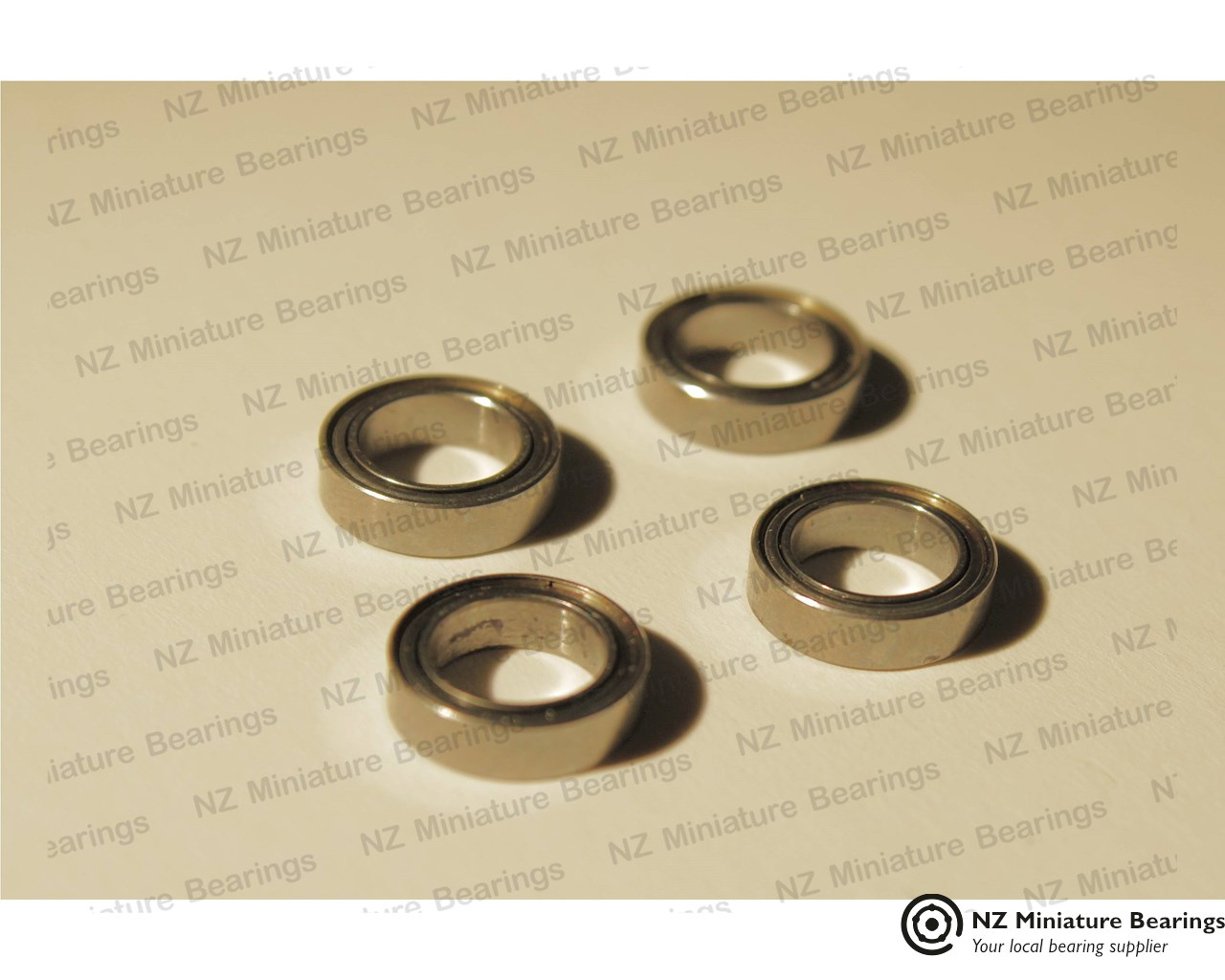 MF128 ZZS Flanged Shielded  Miniature Bearing 8x12x3.5